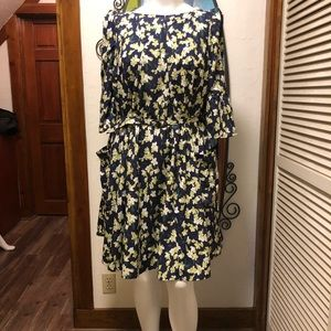 New eShatki Belted Floral Dress